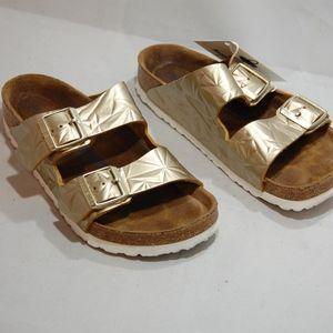 birkenstock sandals gols leather size 8